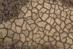La textura de la superficie de la tierra que se ha agrietado del Dr. Fotos de archivo libres de regalías