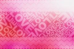 La textura de la tarjeta del día de San Valentín del amor Fotos de archivo