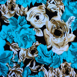 La textura de la tela de la impresión rayó la flor para el backgroun Fotos de archivo libres de regalías