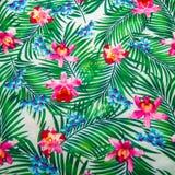 La textura de la tela de la impresión rayó la flor para el fondo Imagen de archivo