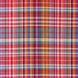 La textura de la tela de la tela escocesa Imagenes de archivo