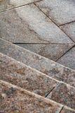 La textura de las escaleras del granito Foto de archivo
