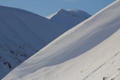La textura de las montañas coronadas de nieve Spitsbergen (Svalbard) Fotografía de archivo