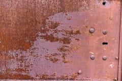La textura de las puertas del metal fotos de archivo