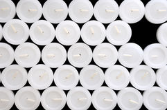 La textura de las velas blancas Imagen de archivo