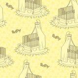 La textura de los niños amarillos Stock de ilustración