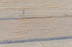 La textura de los tableros con nieve Foto de archivo libre de regalías