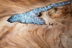 La textura de madera adornó el vidrio Fotografía de archivo