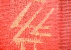 La textura de madera, roja Fotos de archivo
