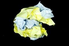 La textura de papel textureClear de papel clara se aísla en fondo negro Fotografía de archivo