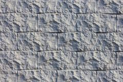 La textura de la pared del gris decorativo del ladrillo fotos de archivo