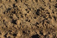 La textura de la tierra arada Imágenes de archivo libres de regalías
