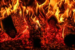 La textura de una llama fotografía de archivo libre de regalías