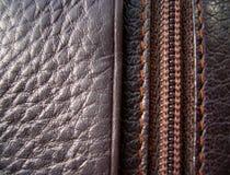 La textura del cuero Cuero de Brown Fotos de archivo libres de regalías