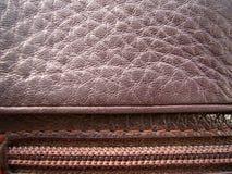 La textura del cuero Cuero de Brown Imagen de archivo
