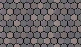 La textura inconsútil de la acera del ladrillo del guijarro conecta sin fin imagen de archivo