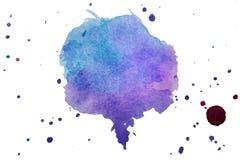 La textura multicolora del chapoteo de la acuarela borra el fondo aislado Gota dibujada mano, punto y gotitas del Grunge Salpicad stock de ilustración