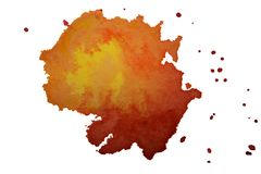La textura multicolora del chapoteo de la acuarela borra el fondo aislado Gota dibujada mano, punto y gotitas del Grunge Salpicad libre illustration