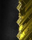 La textura negra con oro adorna el elemento para el diseño Plantilla para el diseño copie el espacio para el folleto del anuncio  Fotos de archivo