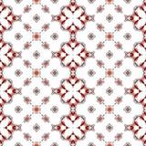 La textura o el fondo blanca limpia abstracta con el modelo rojo moderno hizo inconsútil ilustración del vector