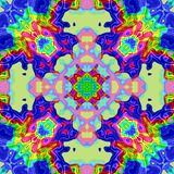 La textura o el fondo colorida abstracta con el modelo del arco iris hizo inconsútil ilustración del vector