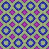 La textura o el fondo colorida abstracta con el modelo del círculo hizo inconsútil ilustración del vector