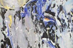 La textura pinta movimientos grandes Foto de archivo libre de regalías