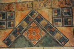 La textura tejó el piso en un estilo del mosaico Fotografía de archivo