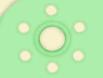La textura verde del fondo del círculo. Imágenes de archivo libres de regalías