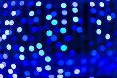 La texture abstraite urbaine Defocused, lumières de bokeh de ville s'allume dedans Images stock