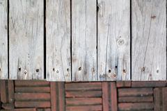 La texture au sol de brique, bois de conseil, stal images libres de droits