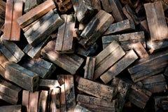 La texture au sol de brique, vieille pile de brique images stock