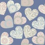 La texture avec le fond linéaire bleu et décoratifs sans couture entendent Photo libre de droits