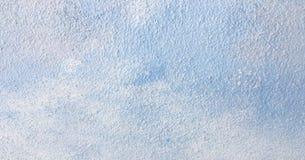 La texture bleue de peinture d'huile abstraite sur le béton, bleu a peint le fond Images stock