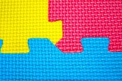 La texture colore des puzzles Photos stock