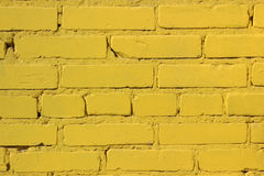 La texture de brique Mur jaune Photo libre de droits