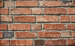 La texture de brique rouge pour le fond avec le vintage éditent Photos libres de droits