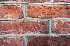 La texture de la courbe du mur de briques rouge Photographie stock
