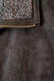La texture de cuir de Brown peut utilisé comme fond photo libre de droits