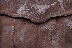 La texture de cuir de Brown peut utilisé comme fond images stock