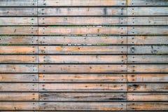 La texture de fond de la vieille doublure en bois peinte embarque le mur Images stock