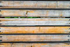 La texture de fond de la vieille doublure en bois peinte embarque le mur Images libres de droits