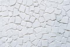 La texture de l'ornement décoratif de mur de mosaïque de peinture de la tuile cassée en céramique Image stock
