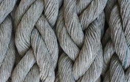 La texture de la grande corde grise Photographie stock libre de droits