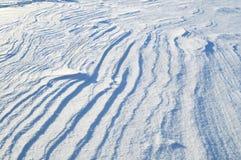 La texture de la surface de neige Photos libres de droits