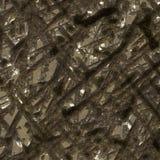 La texture de la surface métallique de la météorite. Images libres de droits
