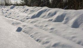 La texture de la neige blanche brillante Images libres de droits