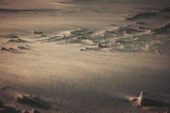 La texture de la surface lunaire image stock