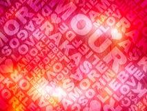 La texture de Valentine d'amour Images libres de droits