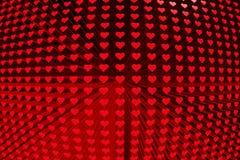 La texture des coeurs Image libre de droits